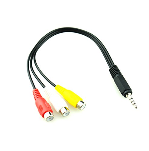 e to 3 RCA Female Adapter Audio Video Cable For AV ,Audio , video, LCD TV,HDTV (Male Video Adaptor)