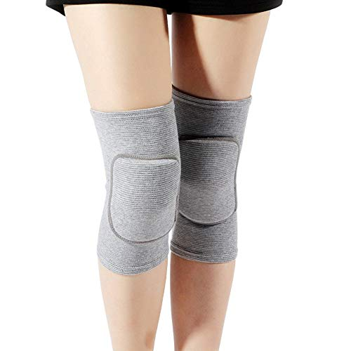Lion Palace Best Soft Knee Pads for Dancers-Biking Football Soccer Tennis Skating Workout Climbing Exercise Work Yoga Pole Dance Volleyball Knee Pads for Women Girls Boys Child (Gray, M) (Workout Knee Pads)