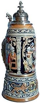 KING Jarra de Cerveza Alemana de Las Profesiones Medievales, Jarra suntuosa, réplica de 1895, Jarra 1,5 litros, Limitaet 2002