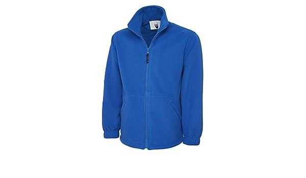Uneek Clothing Mens Classic Full Zip Fleece Jacket Large Royal at Amazon Mens Clothing store: