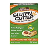 Healthy Digestives Gluten Cutter Enzyme Formula - Helps Improve Your Bodies Gluten Digestion and Assist in Breaking Down Wheat, Dairy and Other Grains - 30 Servings, Capsules (Pack of 5) LK#JVI
