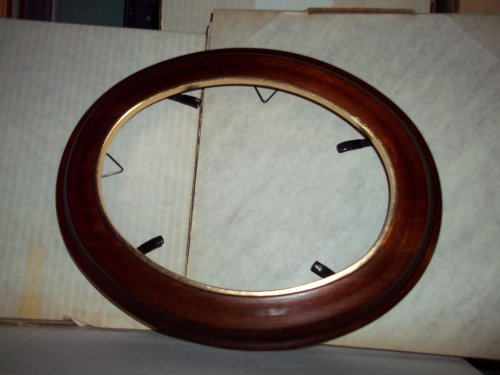 Wooden Decorative Oval Plate frame (Wooden Plate Frames compare prices)
