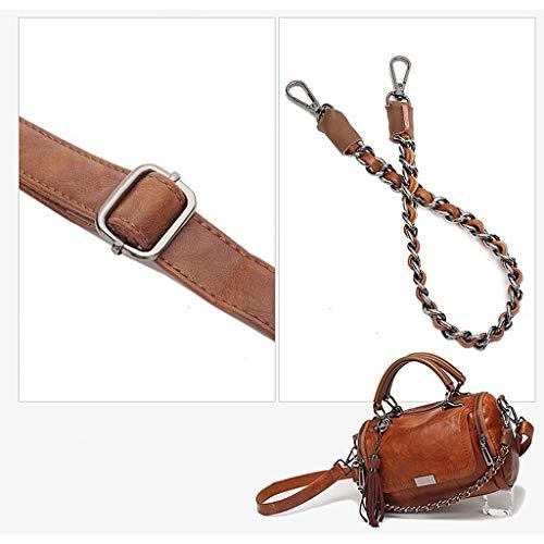 De Diseño Billetera Bolso Mujer Brown Hombro Crossbody Negro Suave Bolsa Señora Top Bolso Moda Color Bolsas wf8qdR7R