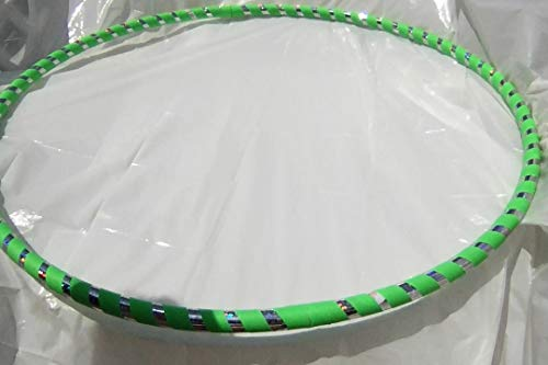Adult 1 lb. Hula Hoops Get Your MiddleLittle Green Light Weight Fitness Dance Workout Exercise - Perfect for Hoop Dance and Off-Body moves Advanced Hoopers Weight Medium 38 - 39 inches round