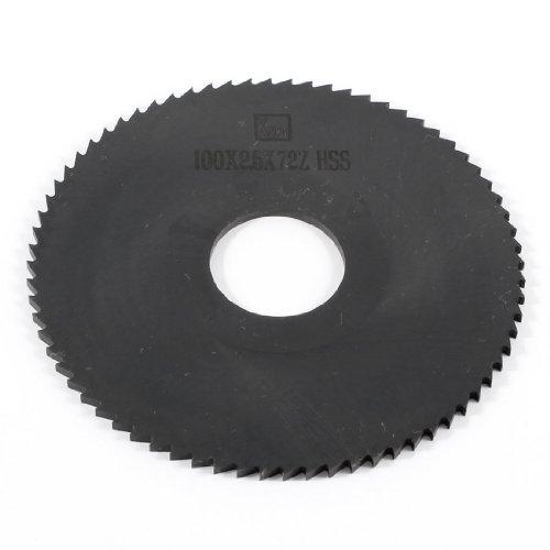 Herramienta de mano de 100mm x 22mm x 2,5 mm 72 Clavija dientes HSS Hoja de sierra de corte longitudinal