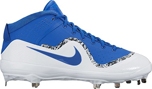 Nike Mens Force Air Trota 4 Pro Tacchetti Da Baseball In Metallo Blu / Bianco