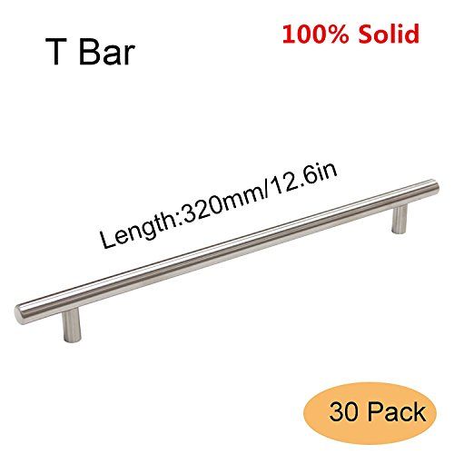 Finished Center (Gobrico Stainless Steel Solid Kitchen Door Cabinet Handles T-bar Drawer Cupboard Pulls Knobs 256mm/10