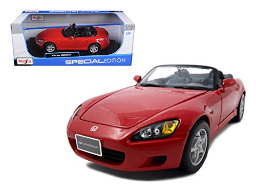 Honda S2000 Red 1/18 Model Car by Maisto (Honda S2000 Model compare prices)