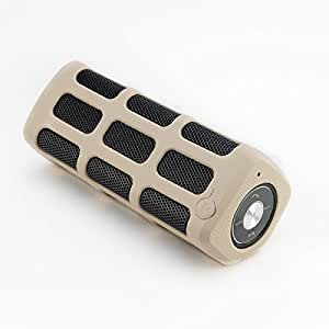 Bluetooth Outdoor Waterproof Speaker with 7000Mah Power Bank / and Speaker Phone - Compatible with Any iPhone, Android Smartphones (Will Last All Day and will Charge player up to 7 X) (Tan Beige)