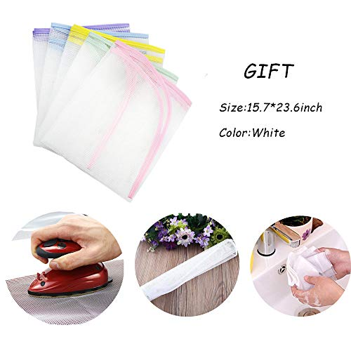 Nnty Gluck Upgraded Thick Ironing Blanket,Portable Ironing Mat with Silicone Pad,and Press Ironing Cloth Mesh,Heat Resistant Ironing Pad Cover for Washer,Dryer,Table Top,Countertop,Iron Anywhere by Nnty Gluck (Image #4)