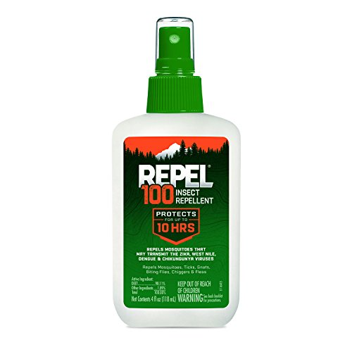 Insect Deet 100 Repellent (Repel 100 Insect Repellent, 4 oz. Pump Spray, Single Bottle)
