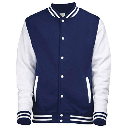 Awdis Varsity Jacket Heather Grey / White L