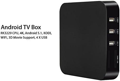 Mini PC Android TV Box Kodi medios Player 4 K Smart TV 3d WiFi 8 GB Negro: Amazon.es: Informática