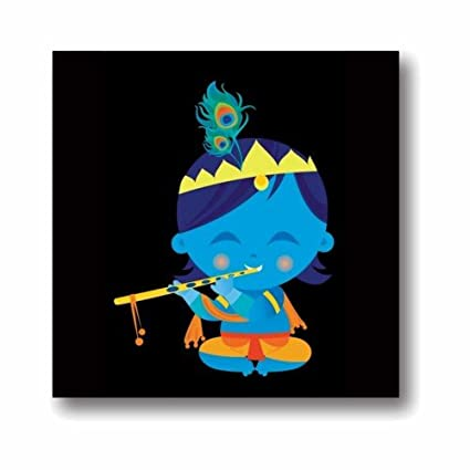 buy yaya cafe cute lord bal krishna canvas wall paintings hangings