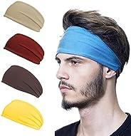 5Pack Sports Headbands, Workout Headbands for Women Mens, Lightweight Sweat Band Moisture Wicking Workout Swea