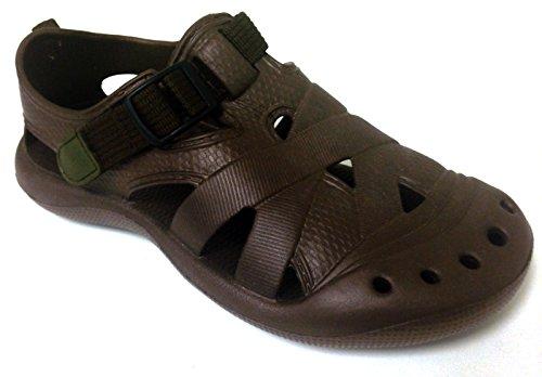 Sandales De Bain Femmes Noir / Vert QN6IA0s0zT