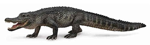 CollectA Wildlife American Alligator Toy Figure - Authentic Hand Painted Reptile Model -