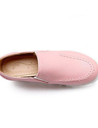 de Semicuero Blanco Plataforma pink uk4 Punta eu36 Redonda us6 us8 Zapatos Mocasines mujer uk6 cn39 eu39 Rosa ZQ us8 eu39 Vestido cn36 cn39 uk6 Negro pink pink Beige q85tw