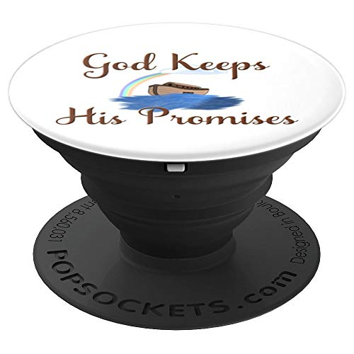 God Keeps His Promises Noahs Ark Phone Holder for Ark Lover - PopSockets Grip and Stand for Phones and Tablets