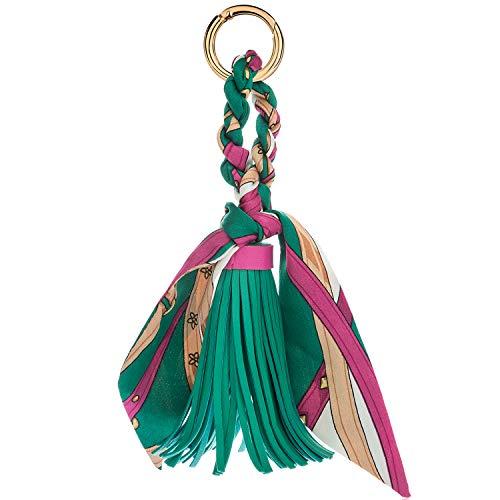 JOUDOO Tassels Keychain with Silk Ribbon for Handbag