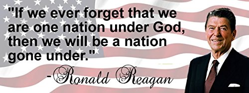 - OwnTheAvenue Ronald Reagan 'One Nation Under God' Quote Conservative Bumper Sticker DC23 43