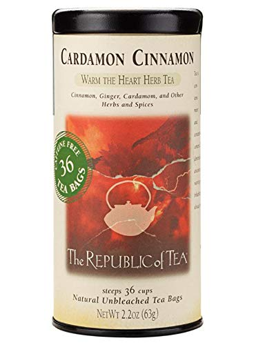 The Republic of Tea Cardamon Cinnamon Tea, 36-Count