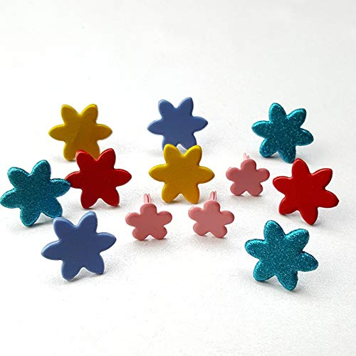 Testing01 Metal Crafts for Paper Mix Colors Metal Flower Brads Scrapbooking Gifts DIY