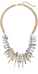 Panacea Grey Stone and Gold Stick Necklace