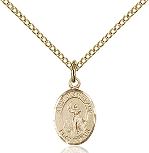 Patron Saints by Bliss 14K Gold Filled Saint Joan of Arc Petite Charm Medal, 1/2 Inch