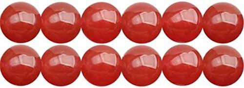 Abalorios de Piedras Semipreciosas Cornalina Naturales Redondos 8mm Perlas para Fabricar Joyas Collares Pulsera Pendientes Cerca de los 38cm Aprox 46 Piezas