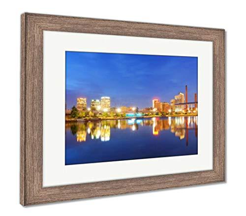 (Ashley Framed Prints Birmingham, Alabama Skyline, Wall Art Home Decoration, Color, 26x30 (Frame Size), Rustic Barn Wood Frame, AG32675282)
