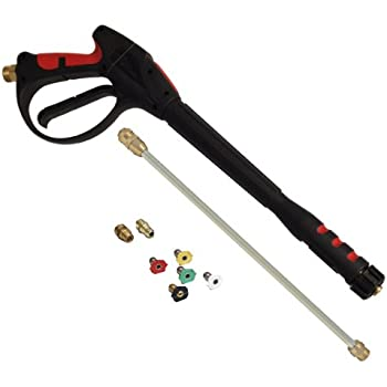 Apache 99023802 4000 PSI Pressure Washer Gun Kit with Male Metric Adapters & Quick Disconnect Spray Tips