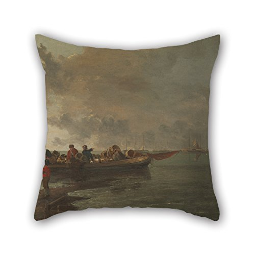 [Loveloveu 20 X 20 Inches / 50 By 50 Cm Oil Painting John Crome - A Barge With A Wounded Soldier Pillow Cases ,both Sides Ornament And Gift To Father,boy] (Diy Sushi Dog Costume)