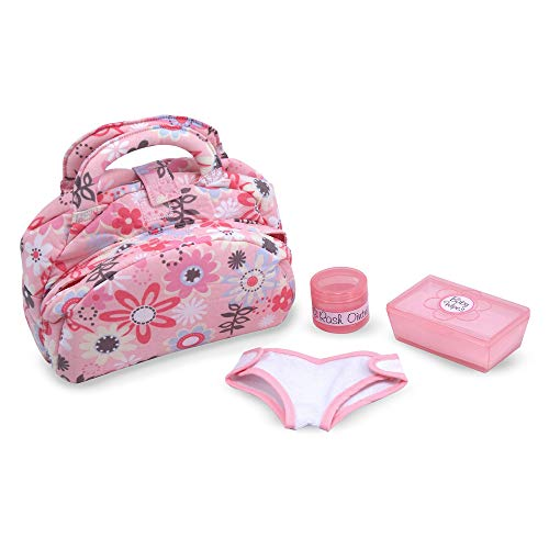 Melissa & Doug Mine to Love Doll Diaper Changing Set With Bag, Wipes, Accessories (7 ()