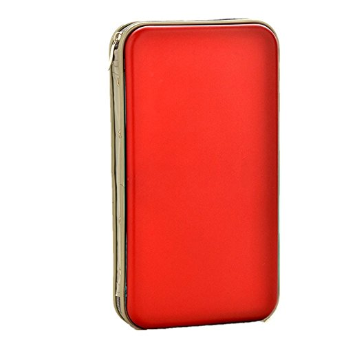 Yamde 80 Capacity Classic CD/DVD case Wallet, storage,holder,booklet,cases binder(red)