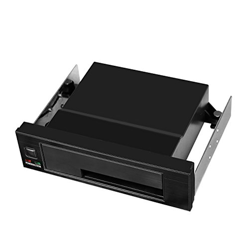 "Universal Hot Swap Mobile Rack For 2.5"" or 3.5"" SSD/HDD, Internal Tray-Less SATA Hard Drive Backplane Enclosure, Support SATA I/II/III & SAS I/II 6Gbps and [Optimized for 2.5"" or 3.5"" SSD/HDD]"