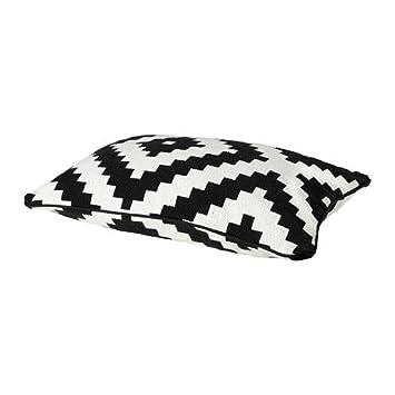 Ikea Cushion Cover, White/black