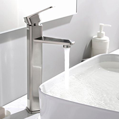 comllen modern commercial stainless steel single lever bathroom basin vessel sink faucet