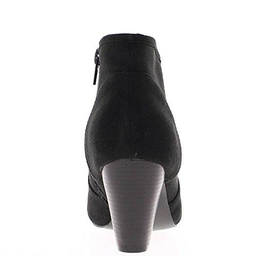 Bottines femme noires à talon de 7cm