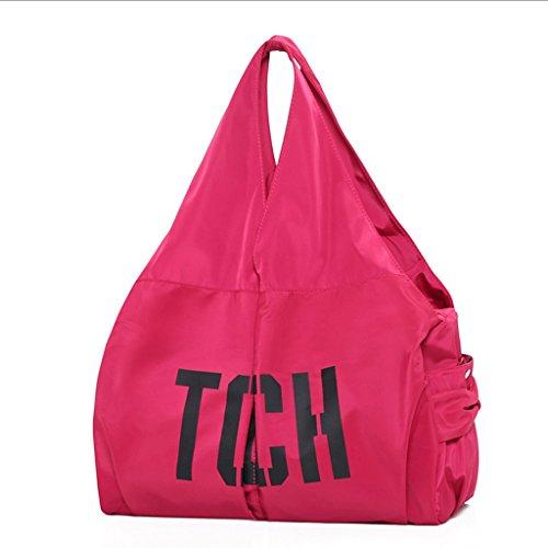 Handbag Bolso de Tela de Mujer, Nuevo Bolso de Hombro, Bolsa de Nylon Simple, Bolsa de Gran Capacidad. A+ (Color : Pink) Pink