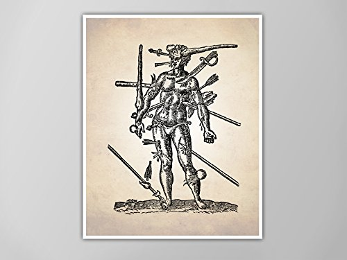 Amazon Wounds Man Human Anatomy Art Print Human Anatomy