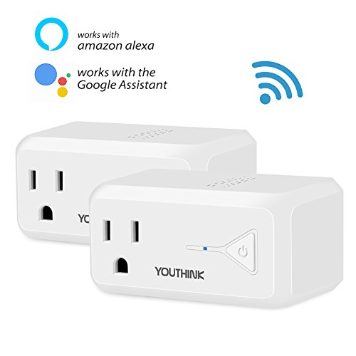Remote Appliance - WiFi Smart Plug, Mini Socket Outlet Compatible with Amazon Alexa Echo and Google Home, Remote Control your Appliances by Smart Phone with Timing Function From Anywhere, No Hub Required, 2 Pack