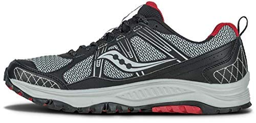 Saucony Men's Grid Excursion TR10 Running Shoe, Grey/Black/Red, 8 M US by Saucony (Image #7)