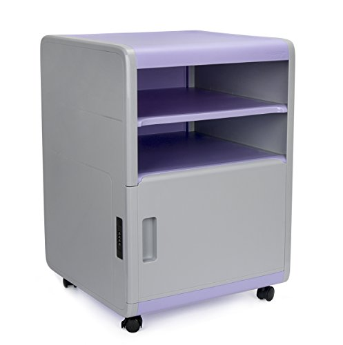 File Cabinet, EVERTOP Plastic File Cabinet Organizer with Code Lock for Classroom Office Home (Purple)