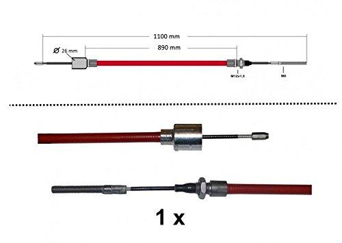 1 x ALKO Bremsseil Longlife 299710-890mm//1100mm mit Gewinde,Pressnippel+Glocke