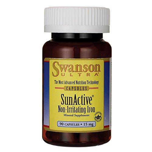 Swanson Sunactive Non-Irritating Iron 15 mg 90 Caps