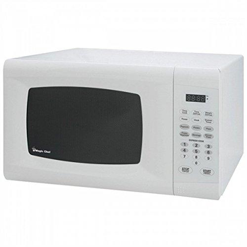 Magic Chef White 0.9 Cu Ft 900 Watt Microwave with Digital T