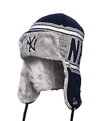 New York Yankees Word Trap MLB Faux Fur Trapper Hat, Model: , Sport & Outdoor