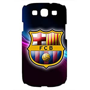 Famous Design FC FC Barcelona Team Logo Phone Case Cover For Samsung Galaxy S3 3D Plastic Phone Case