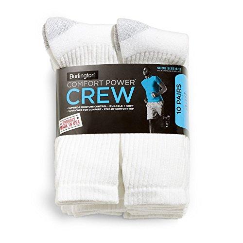 Comfort Power Crew Socks 10-Pack size 6-12 - Burlington Shopping